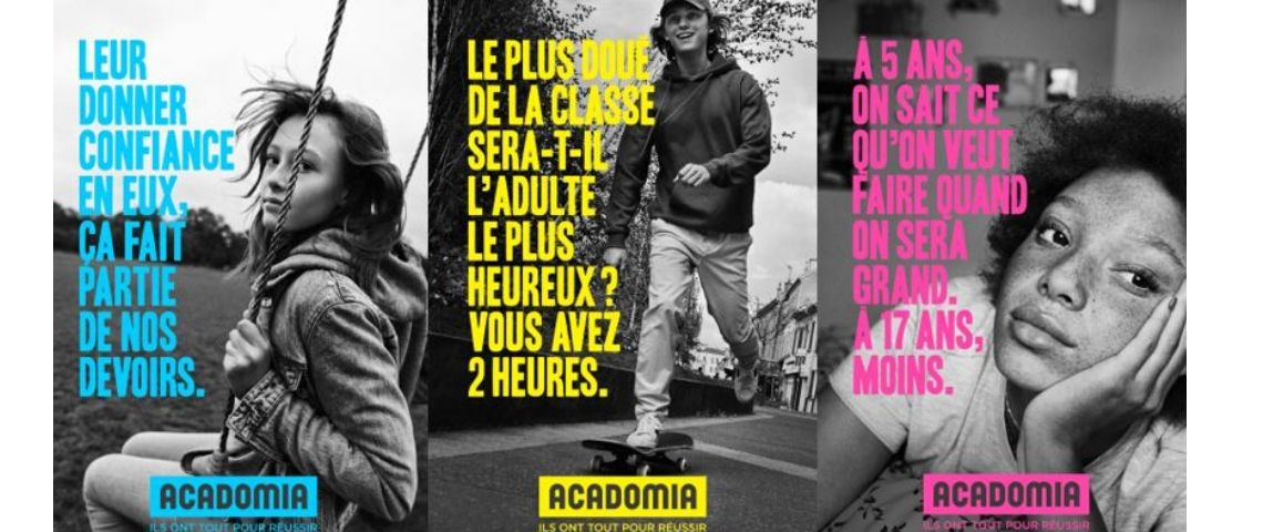 Visuel de la campagne de communication Acadomia