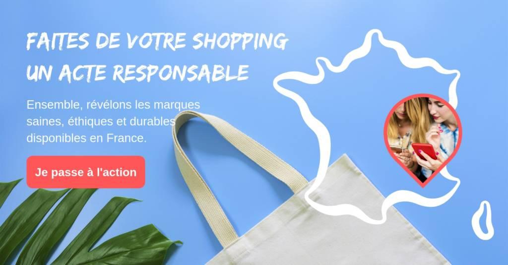 Top image di site Super Responsable avec le slogan : Faites de votre shopping un acte responsable
