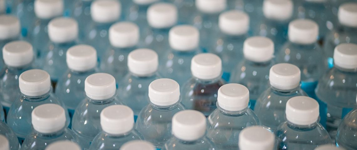 Bouchons de bouteille d'eau
