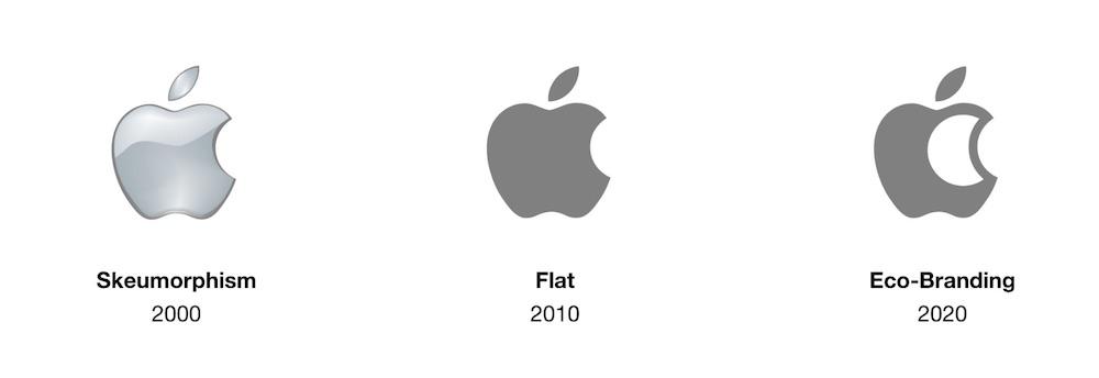 Logo d'Apple changement