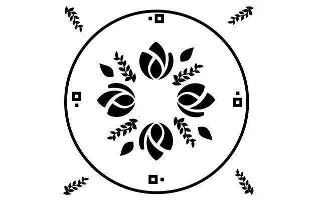 un mandala avec des logos de marques