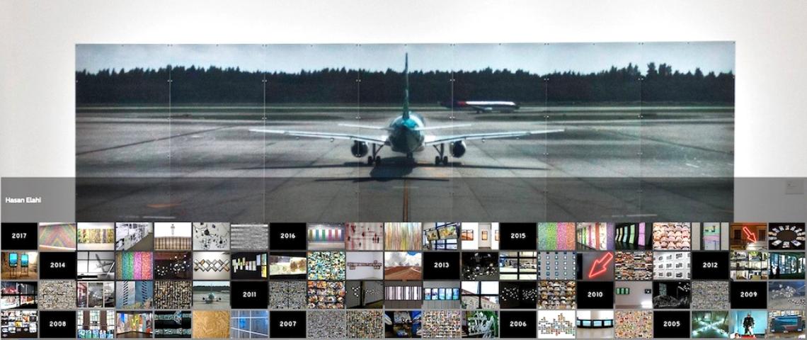 une photo d'avion et de photos de caméras de surveillance