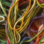 fils de cotons colorés