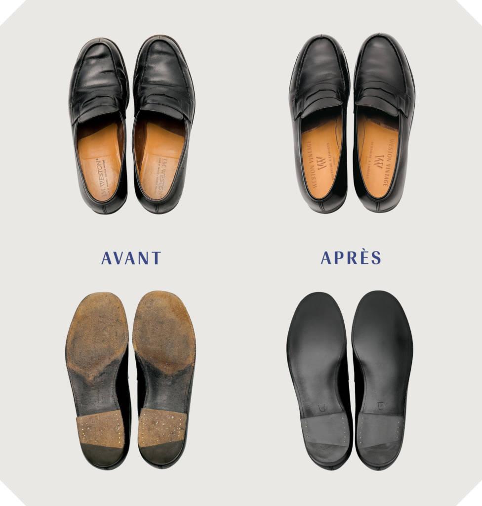chaussures weston avant après rénovation