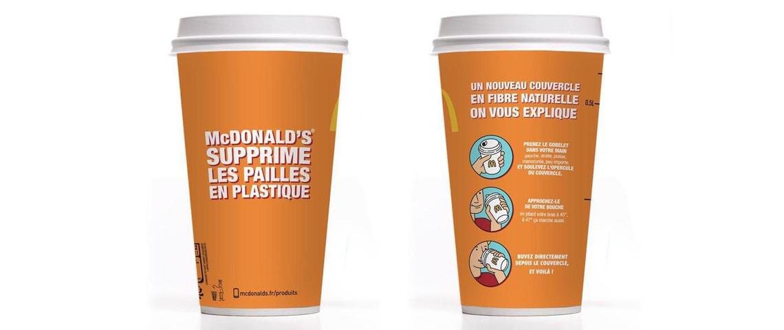 Les nouveaux gobelets McDonald's sans plastique