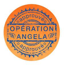 """Autocollant des partenaires de l'opération """"Nom de code Angela"""""""