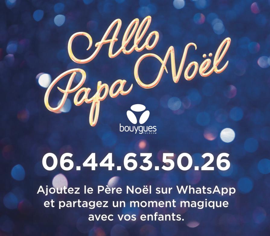 Capture d'écran de la campagne avec le numéro du Père Noël