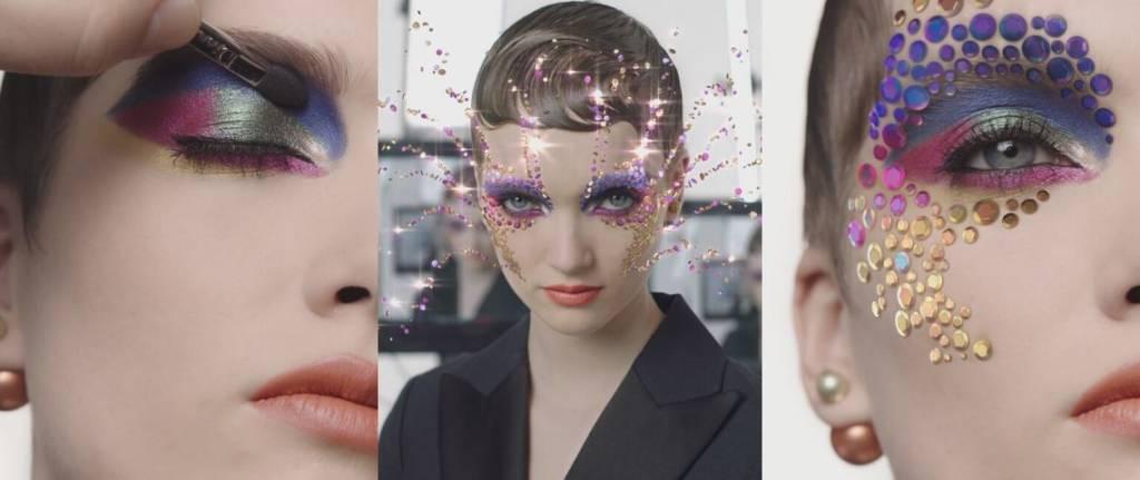 Capture d'écran du nouveai filtre en réalité augmentée de Dior
