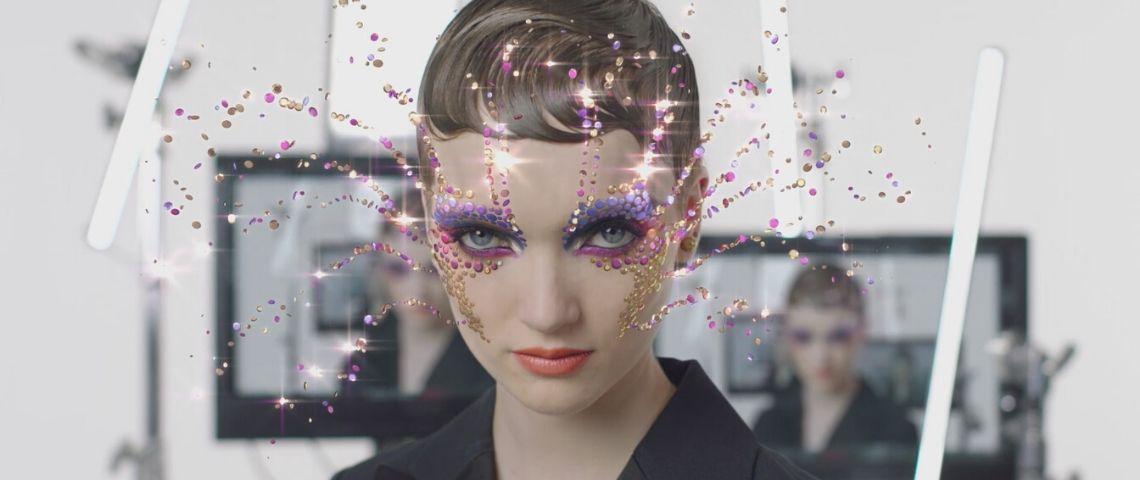 Capture de la vidéo du nouveau filtre en réalité augmentée de Dior