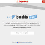 Capture d'écran de Botaldo un chatbot epxert de la ligue 1