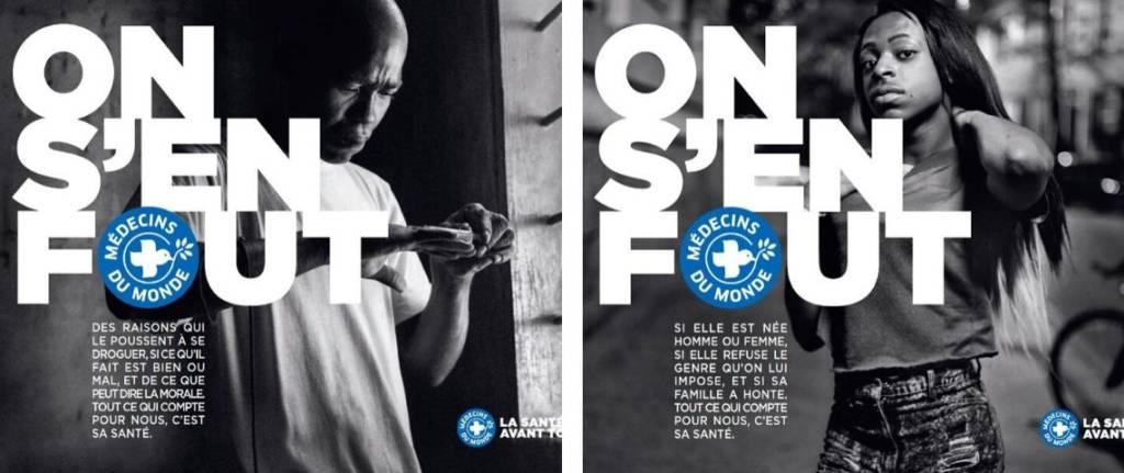 Visuel campagne Médecins du Monde : On s'en fout ?