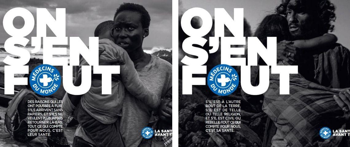 Visuel de la campagne Médecins du Monde : On s'en fout ?