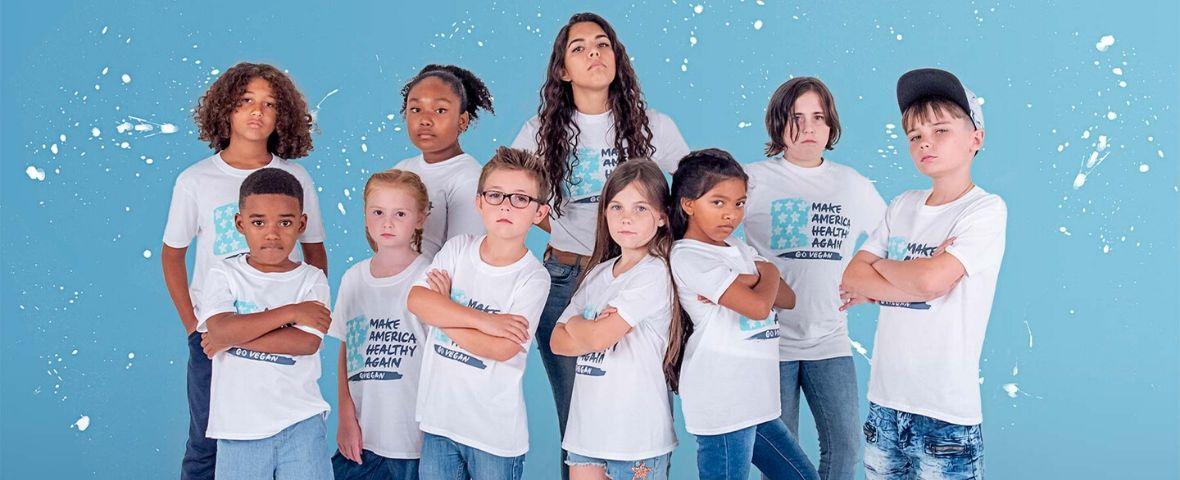 Photo du collectif d'enfants de Million Dollar Vegan