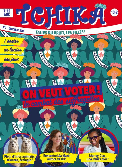 couverture d'un magazine Tchika sur les suffragettes