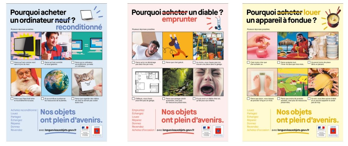 Affiches de la campagne ADEME et DDB Paris