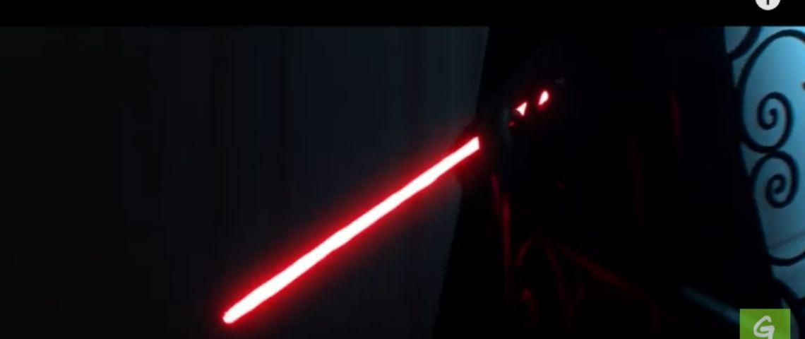 Zoom sur un sabre laser
