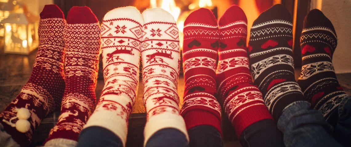 Des chaussettes de Noël
