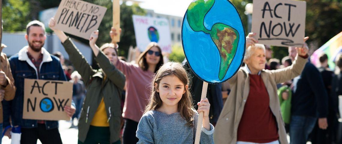 Des manifestants pour la planète