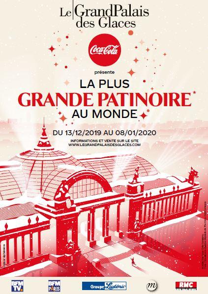 Affiche Coca-Cola pour présenter le Grand Palais des Glaces