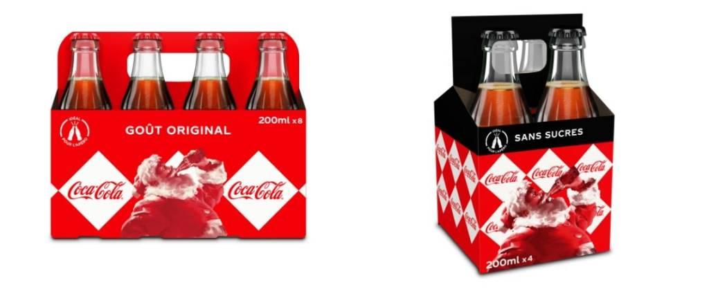 Nouveau packaging Coca-Cola à l'efigie du Père Nöel