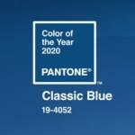 couleur bleu année 2020 pantone