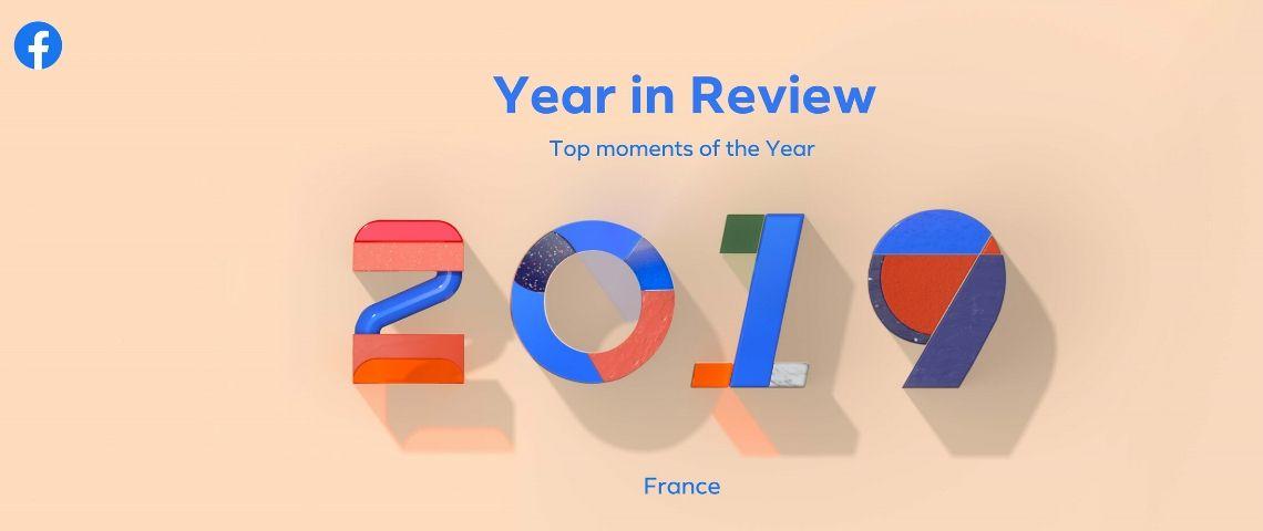 Visuel du bilan 2019 de Facebook