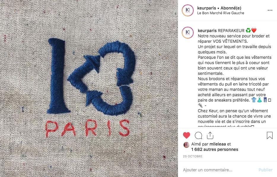 Post Instagram de Keur Paris