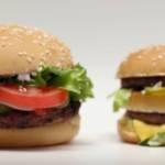 A gauche un Whopper et à droite un Big Mac