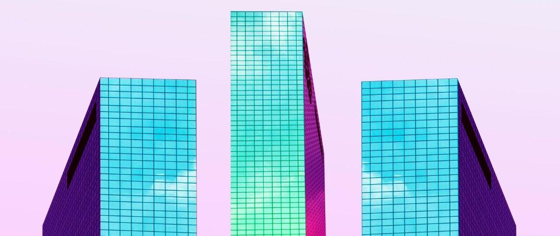 Immeubles couleurs futur