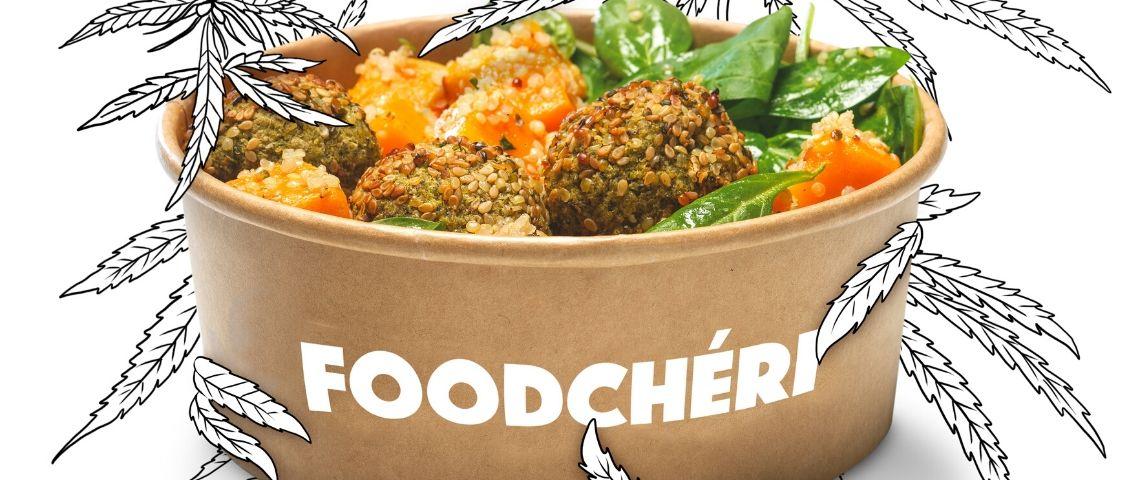 Captuire d'écran de la campagne Foodcheri, montrant un plat