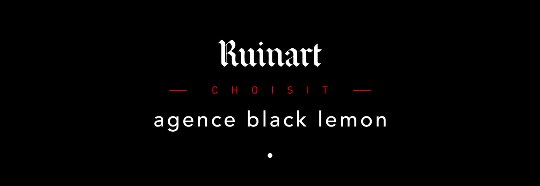 Logo Black Lemon et Ruinart