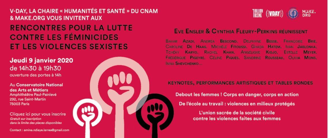 Invitation pour les « Les Rencontres pour la lutte contre les Féminicides et les Violences Sexistes »
