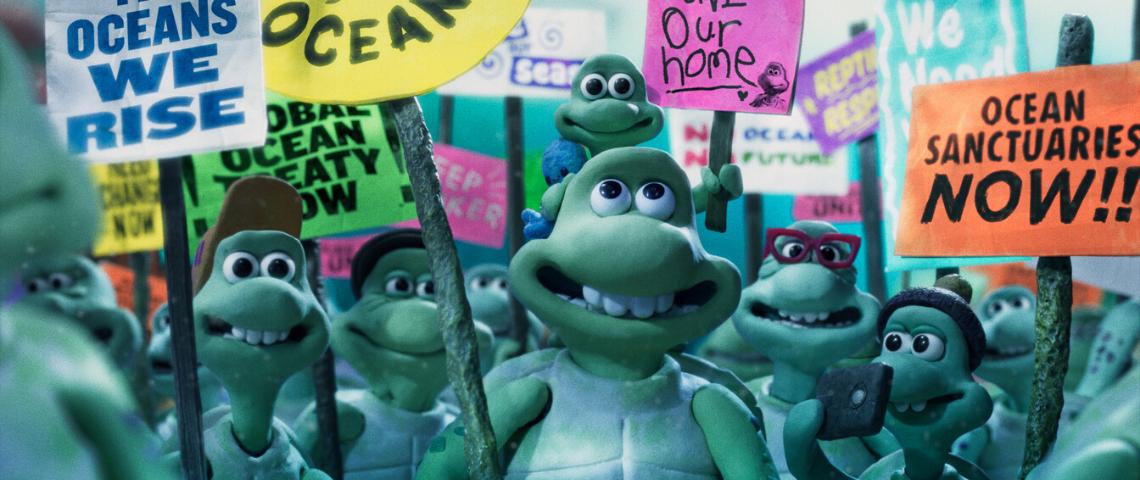 Les tortues des studios Aardman et Greenpeace