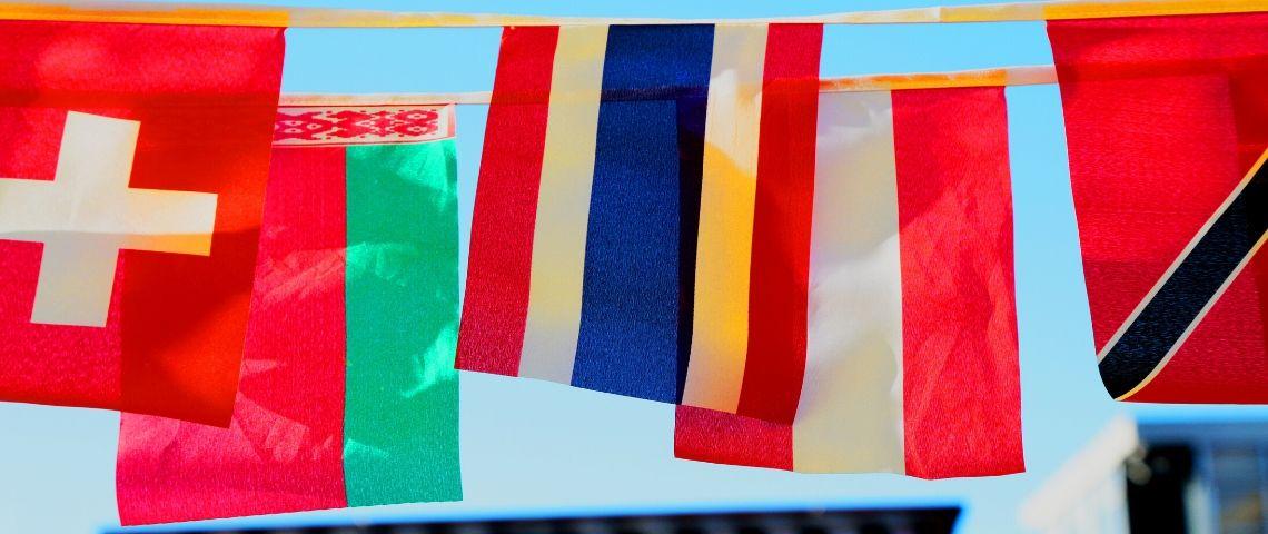 Des drapeaux de différents pays
