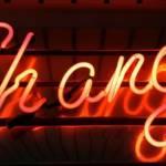 """Le mot """"change"""" en néon"""