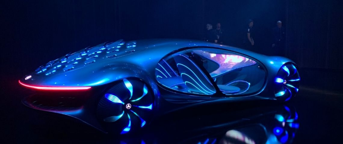 Une voiture au CES 2020