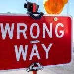 "Panneau routier ""wrong way"""
