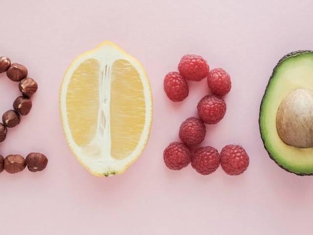 Des fruits qui forment le chiffre 2020