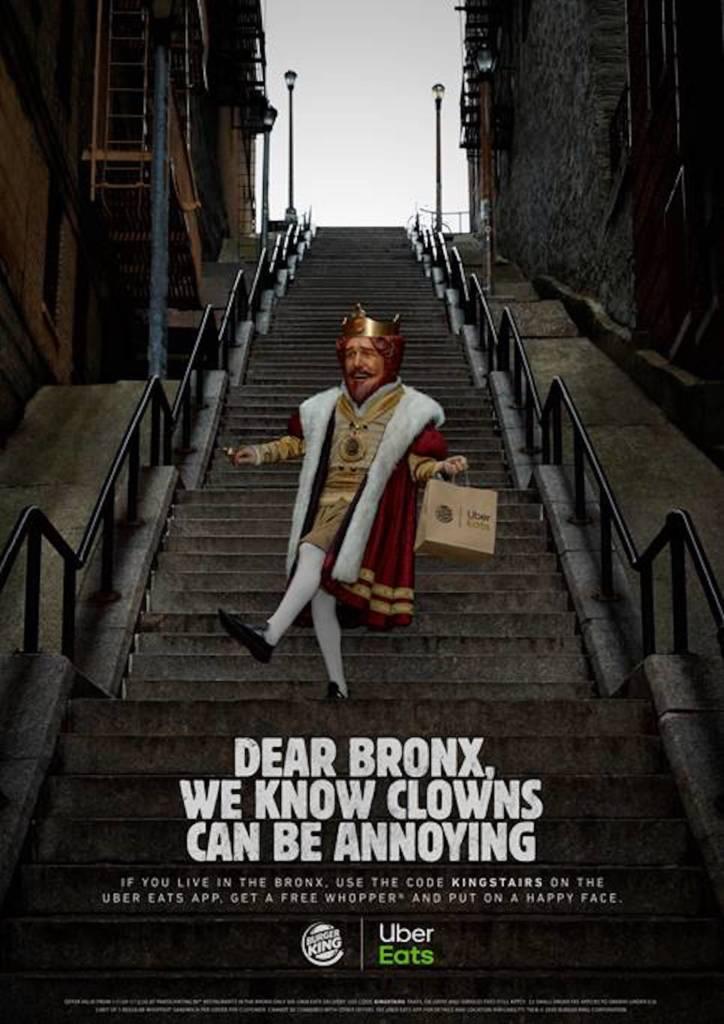 Affiche de la campagne de Burger King suite à la sortie du DVD Joker