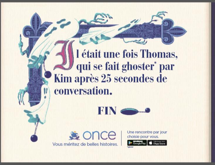 Il était une fois Thomas qui se dait ghoster par Kim après 35 secondes de conversation