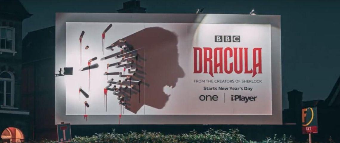 « Dracula », une campagne visible uniquement la nuit pour la série de BBC One