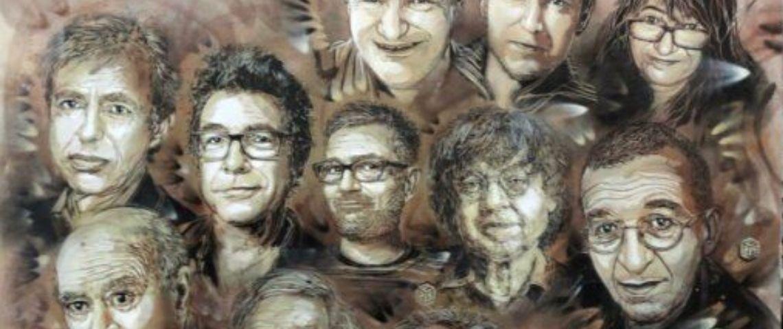 Fresque de Christiant Guemy ou C215 en hommage à Charlie Hebdo