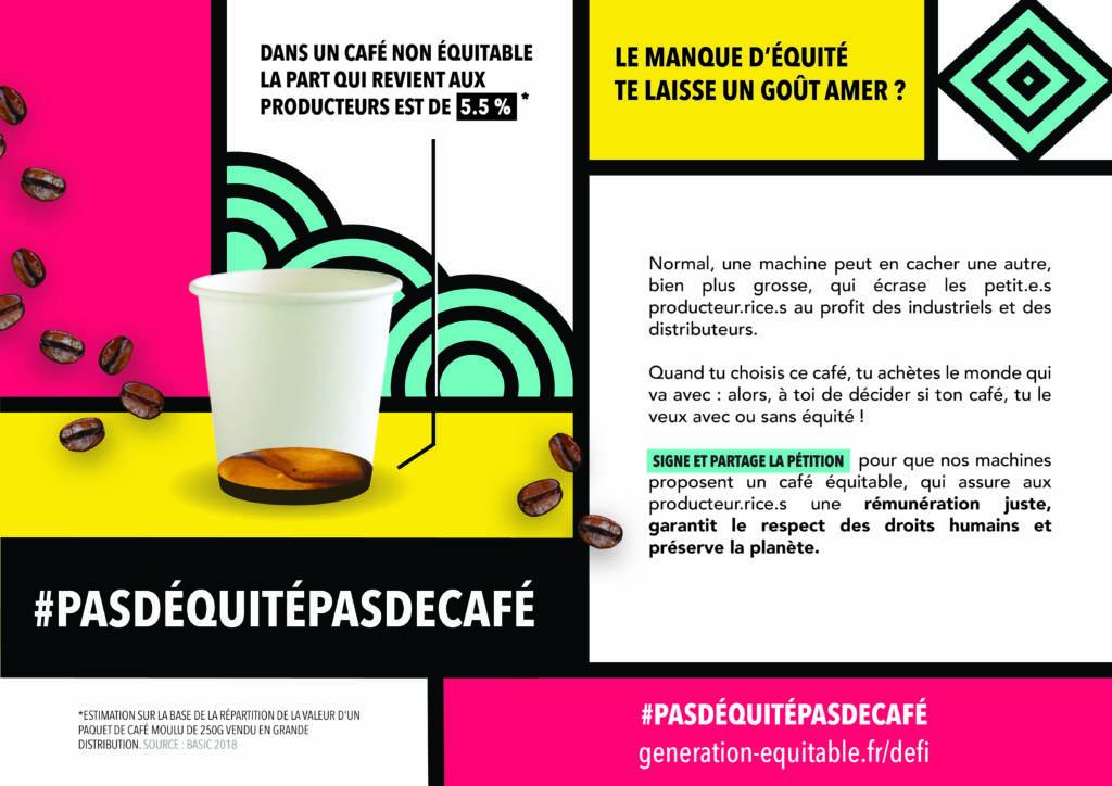 Affihe de la campagne #pasdéquitépasdecafé