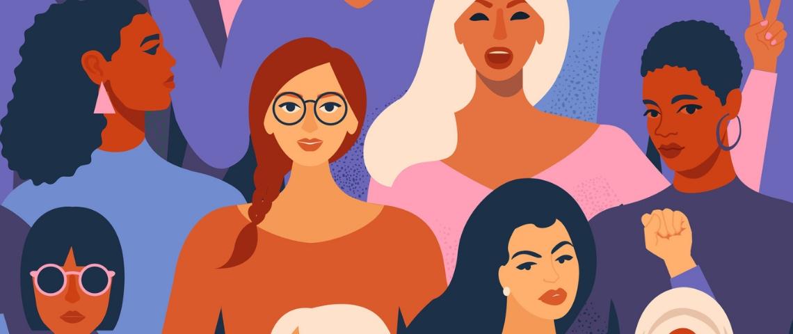 Plusieurs femmes dessinées