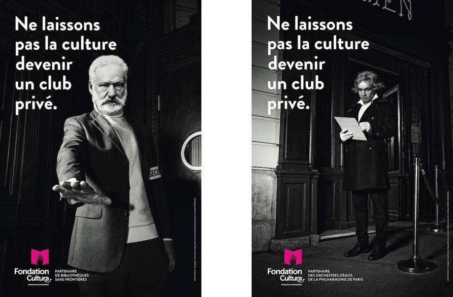 affiches de la campgane de la fondation cultura