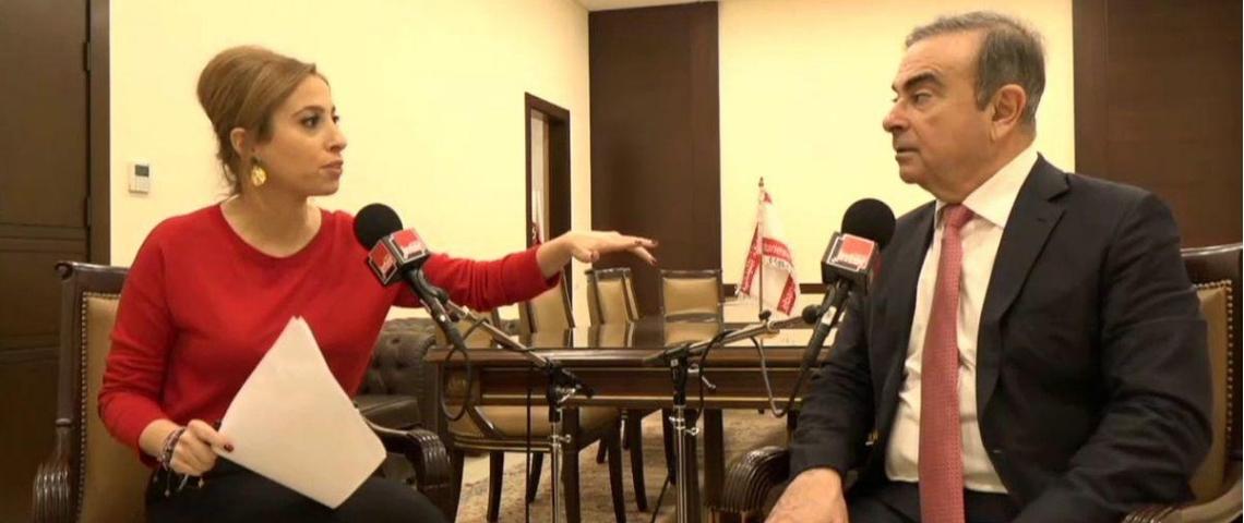 Léa Salamé et Carlos Ghosn