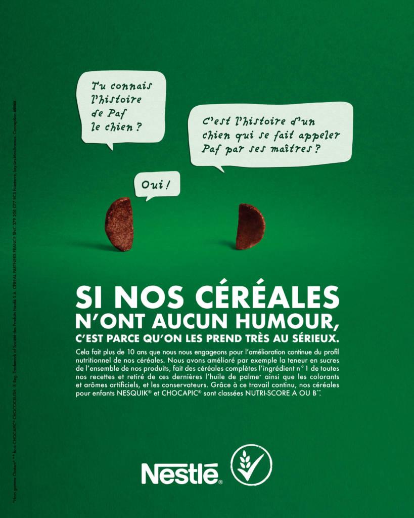 Affiche campagne Nestlé signée Australie
