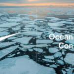 Un visuel montrant un océan glacé pour l'engagement de Nike