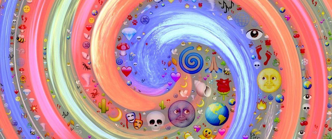 Spirale avec des emojis
