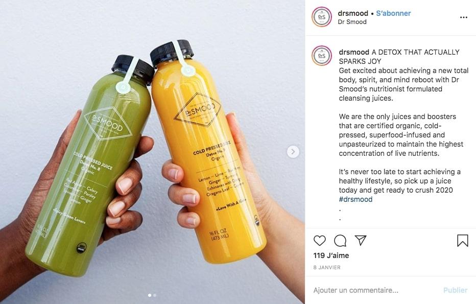 Post Instagram du restaurant Serotonin Eatery